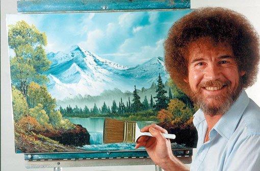 20 todestag von tv maler bob ross wir machen einen for Bob ross mercedes benz