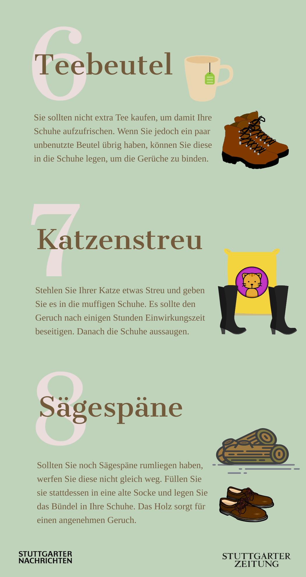 10 Tipps, um Schuhgeruch zu entfernen (Infografik)