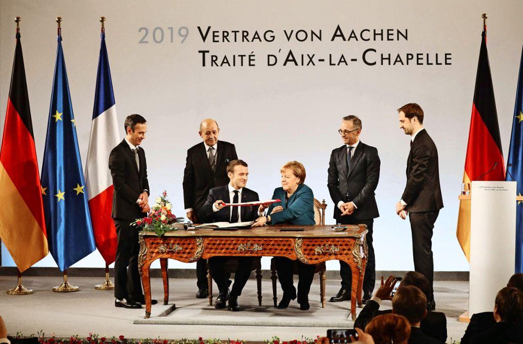 Vertrag Von Aachen Pathos Beherrscht Macron Besser Als Merkel