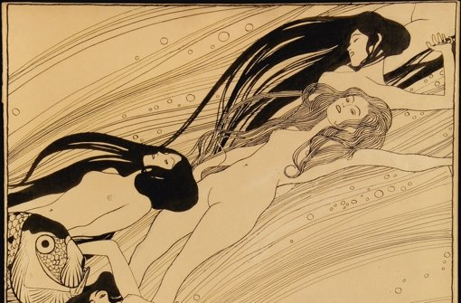 Gustav KlimtFischblut (Illustration für Ver Sacrum), 1897/98 Private collection, courtesy Galerie St. Etienne, New York  Foto: © VBK, Wien 2011