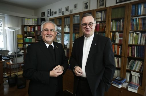 Die Bischöfe Fürst (li.) und July beim Weihnachts-Interview. Foto: Leif Piechowski