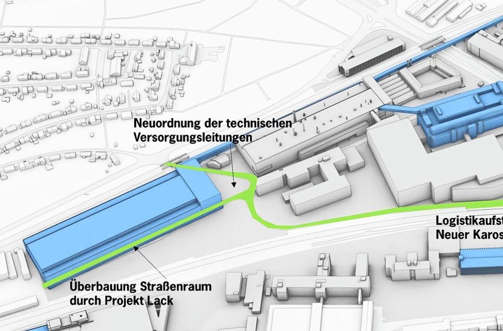 Porsche Zuffenhausen Otto,Dürr,Straße bleibt für Passanten