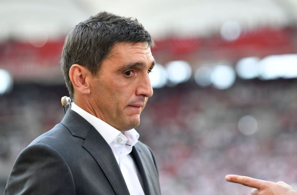 A touch of a Finger is but Tayfun Korkut remains calm. Photo: AFP