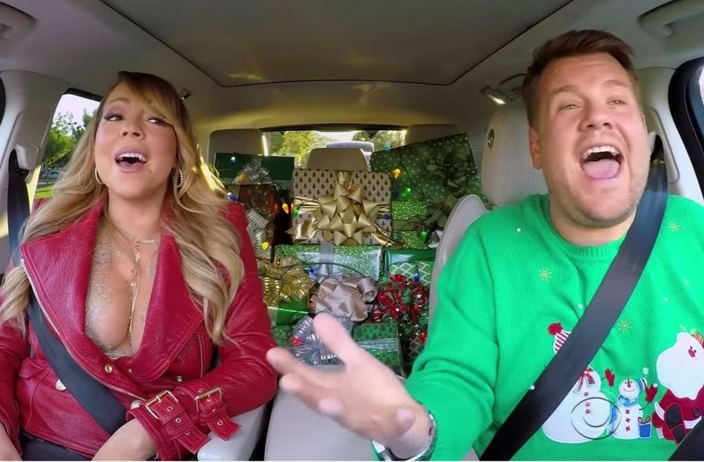 "Mariah Carey im Christmas-Special von ""Carpool Karaoke"" Foto: Screenshot Youtube/Carpool Karaoke"