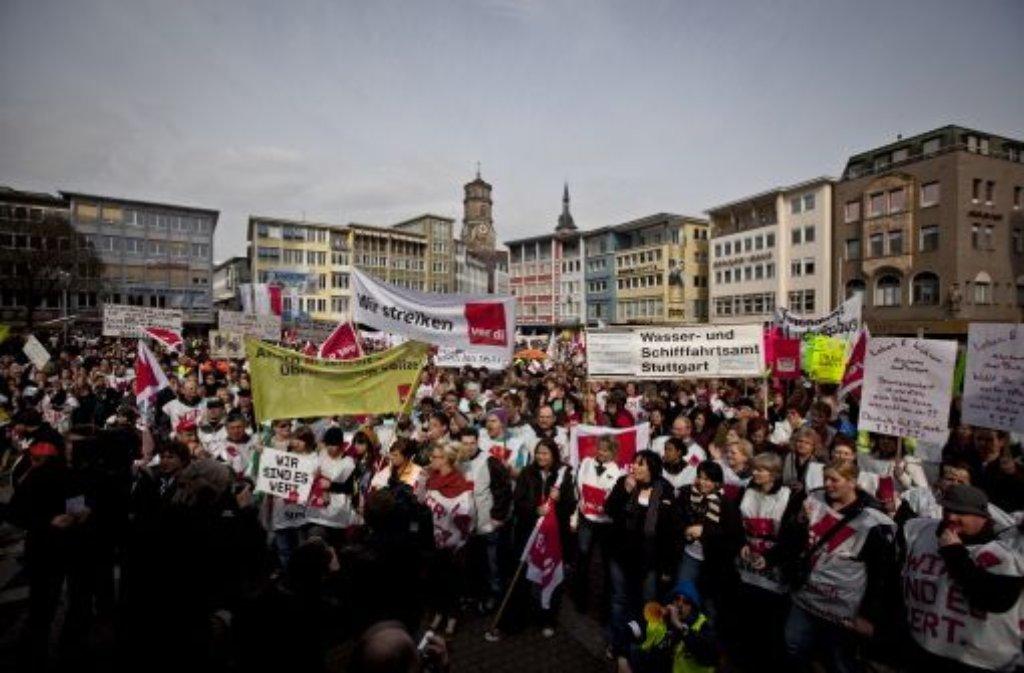 Verdi Stuttgart Streik