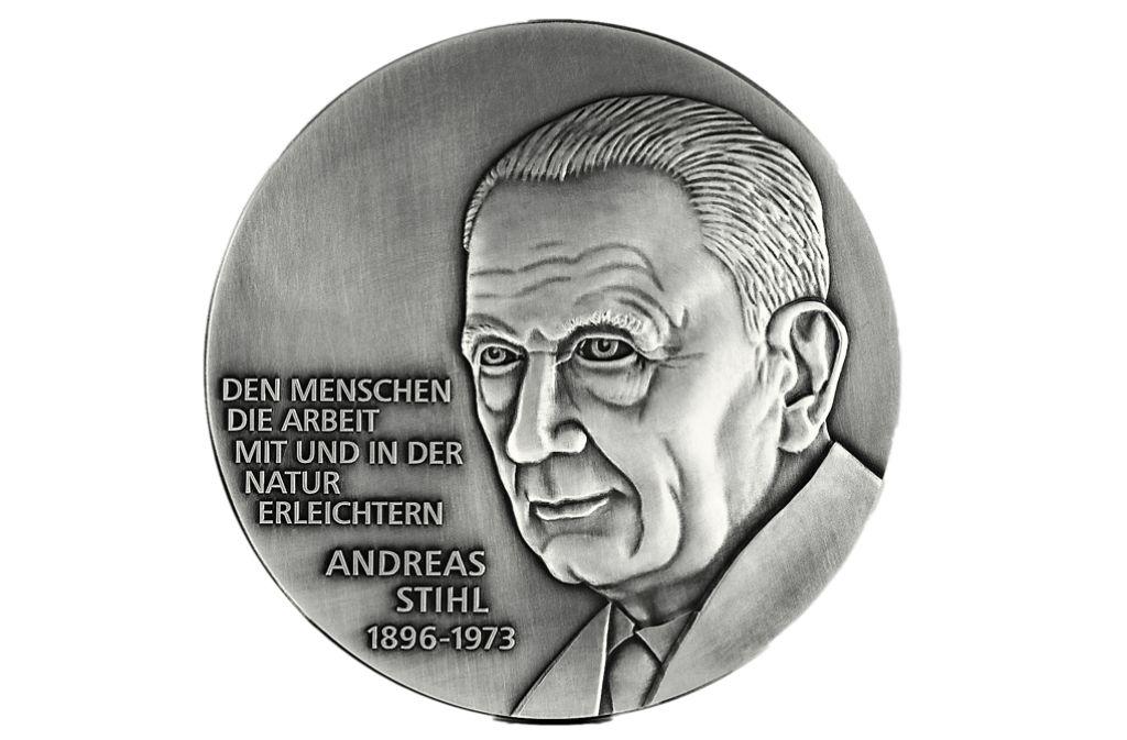 Medaille mit Andreas Stihl: Eine prägende Persönlichkeit