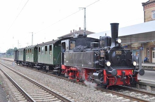 Mit dem Dampfzug unterwegs