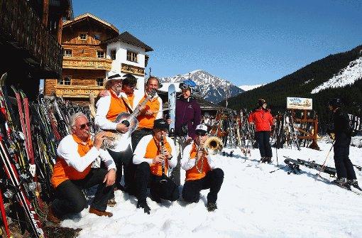 Musik im Schnee heißt es beim Jazz-Festival Anfang März. Foto: SoAk