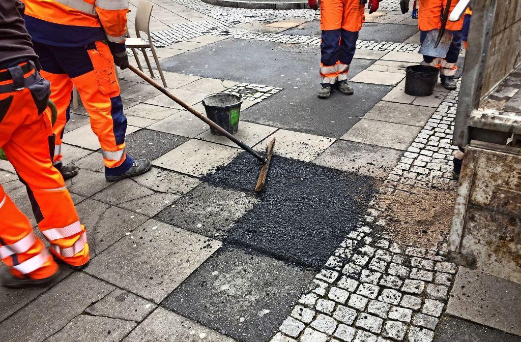 Asphalt Fußbodenplatten ~ Schäden in stuttgart nehmen zu: lieferverkehr in der stadt wird zum