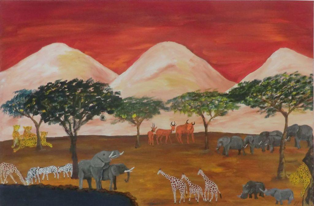 heute im rems murr kreis der elefanten maler stellt aus rems murr kreis stuttgarter. Black Bedroom Furniture Sets. Home Design Ideas