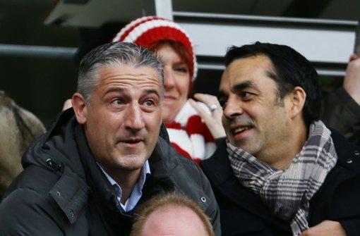 Jürgen Kramny und Robin Dutt (rechts) wollen mit dem VfB Stuttgart beim FC Ingolstadt Punkte mitnehmen. Foto: Pressefoto Baumann
