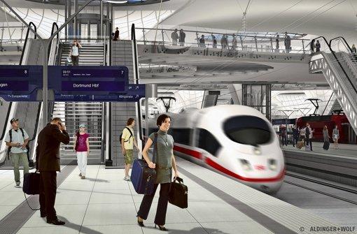 Wie viele Reisende passen problemlos auf die Bahnsteige im neuen Tiefbahnhof? Foto: Aldinger & Wolf
