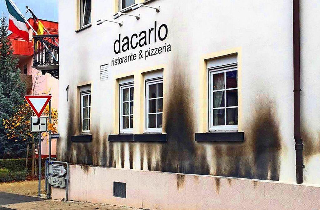 Gerlingen im Kreis Ludwigsburg - Mann verübt Brandanschlag auf Pizzeria - Stuttgarter Nachrichten