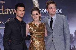 Taylor Lautner, Kristen Stewart und Robert Pattinson Foto: dpa