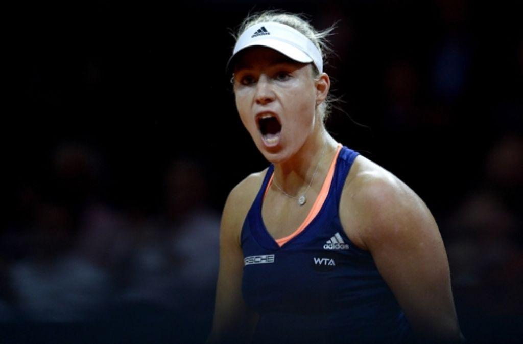 Angelique Kerber Hat Im Viertelfinale Des Porsche Tennis