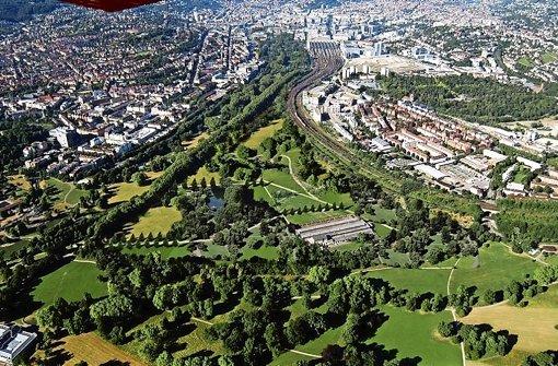 Roland Ostertags Vorschlag zur Erweiterung des Rosensteinparks Foto: Luftbild: Grohe/Montage: Ostertag