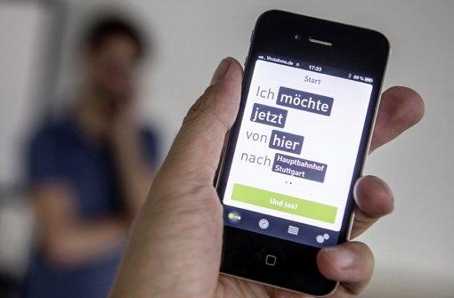Auf dem Startbildschirm gibt der Nutzer seinen Startpunkt ...  Foto: