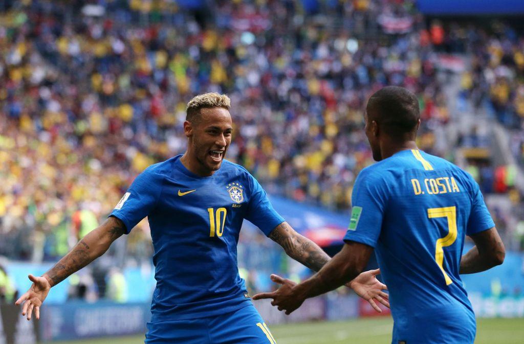 Wm 2018 Brasilien Feiert Späten Sieg Gegen Costa Rica Fußball