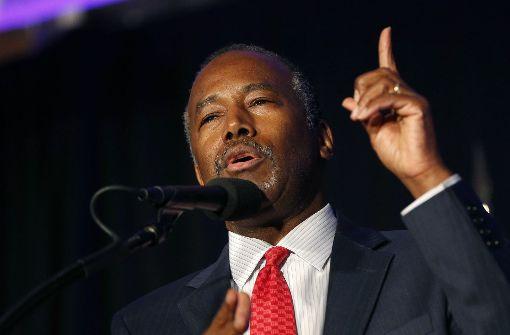 Ex-Rivale Carson soll Wohnungsbauminister werden