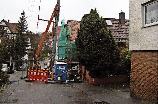 Anwohner ärgern sich  über Baustelle