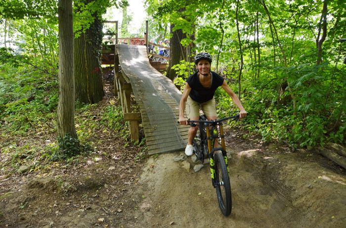 Woodpecker-Trail in Stuttgart-Degerloch: Mit Herzrasen in die Downhill-Kurven
