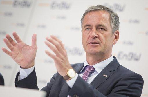 EnBW-Konzernchef Frank Mastiaux bei der Bilanzpressekonferenz am Montag in Stuttgart Foto: dpa