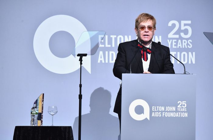 Elton John Aids Foundation: Bill Clinton ehrt Sir Elton John