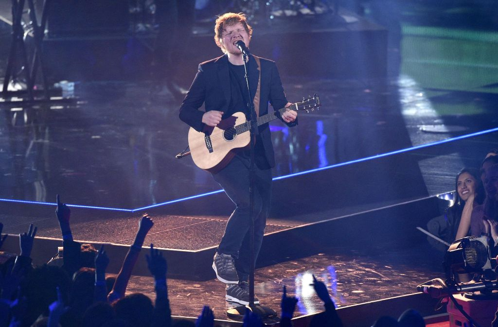Sänger Ed Sheeran performt bei den iHeartRadio Music Awards in Inglewood (Kalifornien). Foto: AP