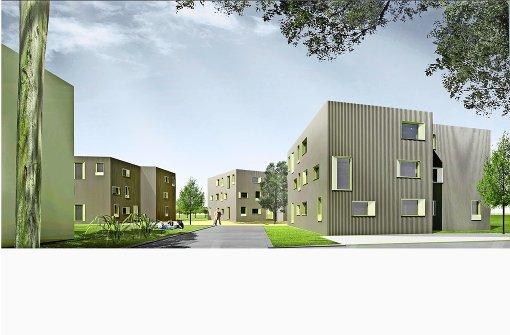 Drei Gebäude für anerkannte Flüchtlinge