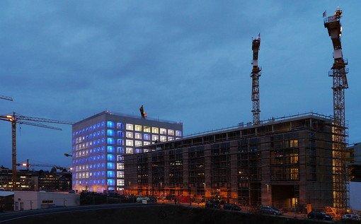 Die Stuttgarter Stadtbibliothek im Europaviertel. Foto: Leserfotograf chrisho