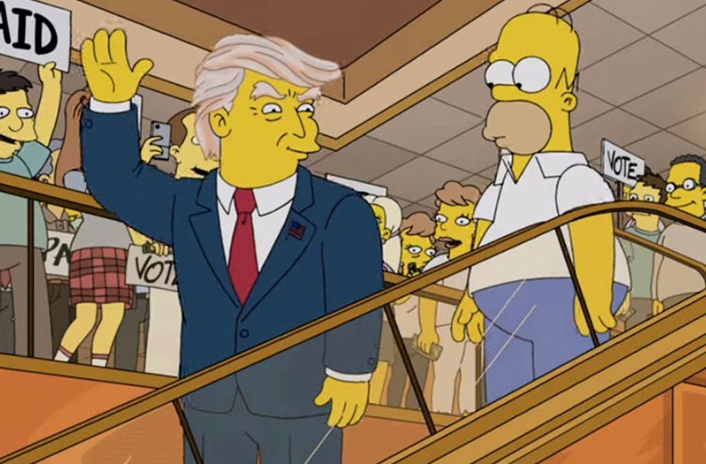 Simpsons Vorhersagen Trump