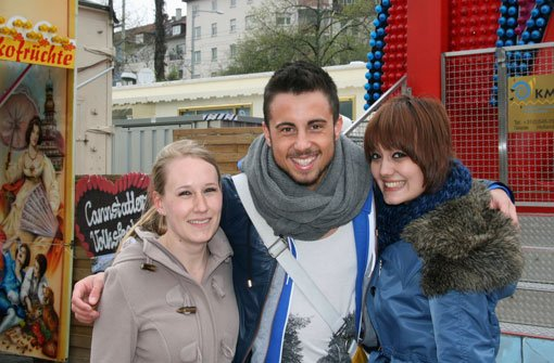 Die drei Versuchskaninchen Isabel Lackner (24), Tomislav Bosanac (19) und Catherine Mason (21). Foto: Timo Lackner