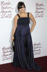 Hochschwanger auf dem Roten Teppich: Die Sängerin Lilly Allen bei den British Fashion Awards in London. Foto: AP