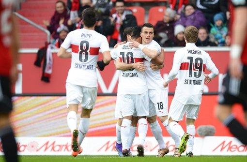 Punktgewinn in Ingolstadt: Der VfB Stuttgart holte   einen 1:3-Rückstand wieder auf Foto: Getty