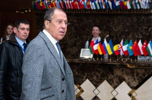 Lawrow: Gegner von Assad blockieren Friedensprozess