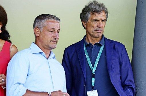 Neue Rolle? Adrion (re./mit Kramny) Foto: Pressefoto Baumann