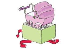 bDie kleine Familie/bbr Nicht nur Mädchen, auch Jungs haben Puppenwagen. Der muss aber unbedingt blau sein. Der klassische Korbwagen wurde von modernen Varianten und Kombinationen aus Kinderwagen und Buggy (Vedes, ab 60 Euro) abgelöst. Es gibt auch Varianten aus Holz (Vedes, 99 Euro) – Kleinkinder machen mit den Wagen die ersten Gehversuche. In der Abteilung Haushalt und Puppenküche ist manches Kind besser ausgestattet als die Eltern. Beliebt sind kleine Silikon-Backformen (SES, ab 6 Euro) und Kochtöpfe (im Set von Vedes ab 20 Euro), mit denen man richtig backen und kochen kann. Spaghettizangen, Spülbürsten, Emailletöpfe, Spargelschäler – das alles gibt es im Miniaturformat. Die Produkte passen sich in Farbe und Material den Trends in der Erwachsenenwelt an. Foto: Illustrationen: Yann Lange