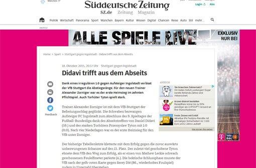Fotostrecke: VfB Stuttgart gegen FC Ingolstadt: Die Pressestimmen zum ...