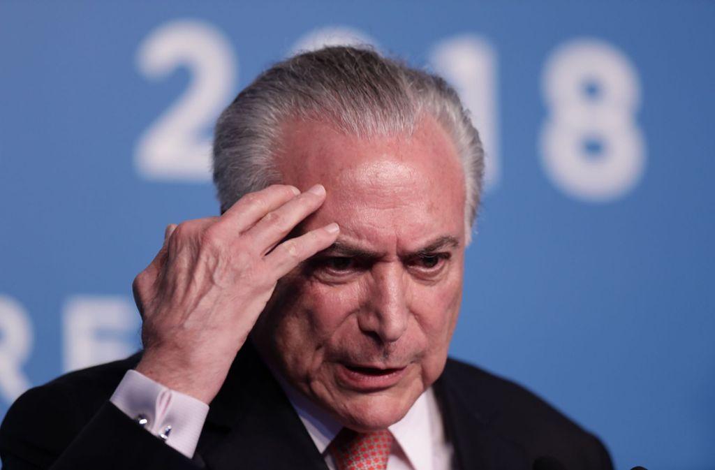 Michel Temer Ex Präsident In Brasilien Festgenommen Politik