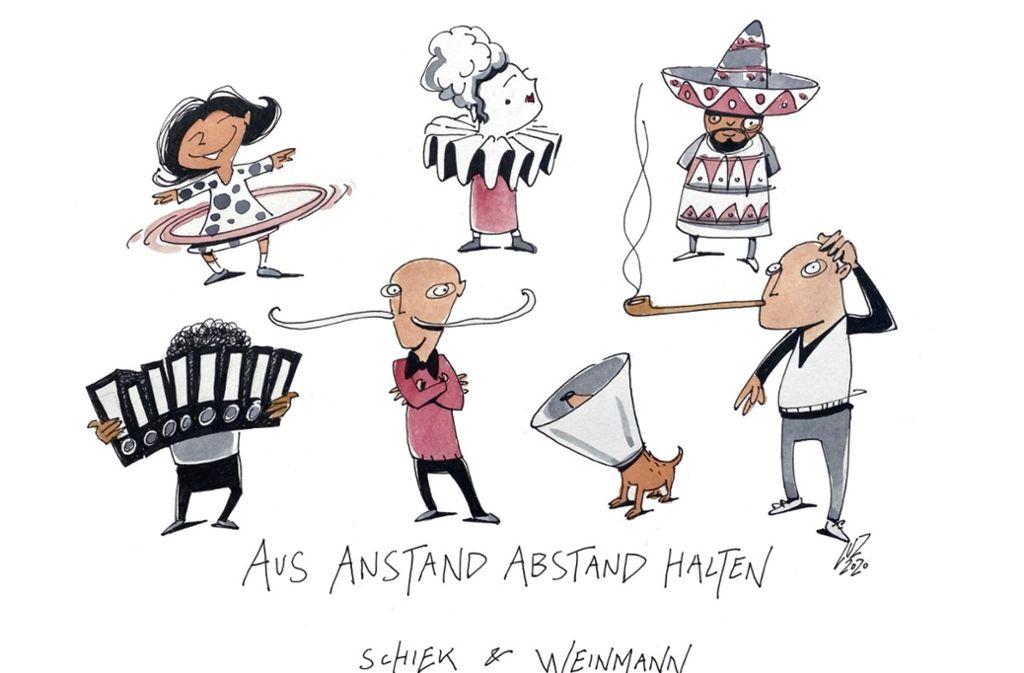 Postkarten des Zeichners Michael Luz: Coole Kampagne in ...