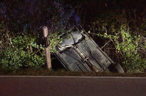 24-Jähriger verursacht betrunken und zu schnell Unfall