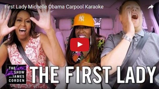 Karaoke mit Michelle Obama: First Lady im Carpool mit James Corden