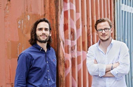 Die Helpling-Gründer Philip Huffmann (li.) und Benedikt Franke. Foto: Firmenfoto