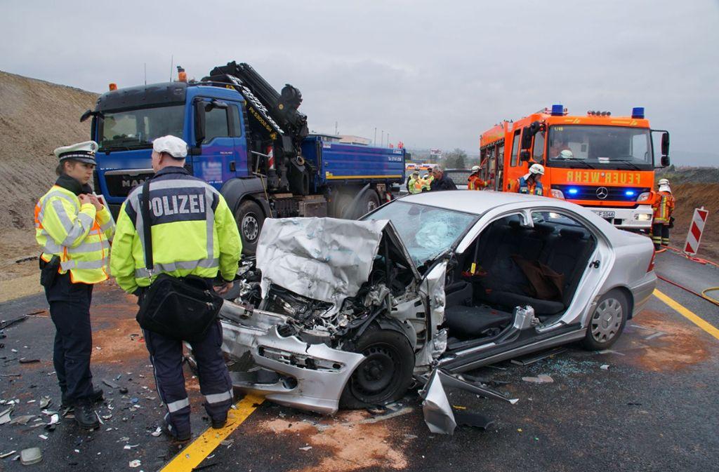 Unfall B14 Stuttgart