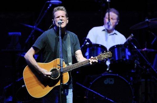 Der Eagles-Mitgründer Glenn Frey verstarb mit nur 67 Jahren. Das Foto zeigt den Gitarristen und Sänger bei einem Auftritt im Jahr 2013 im Madison Square Garden. Foto: AP