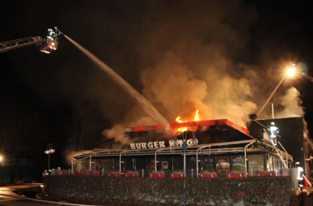 Nach Brand In Pforzheim Burger King Restaurant Wird
