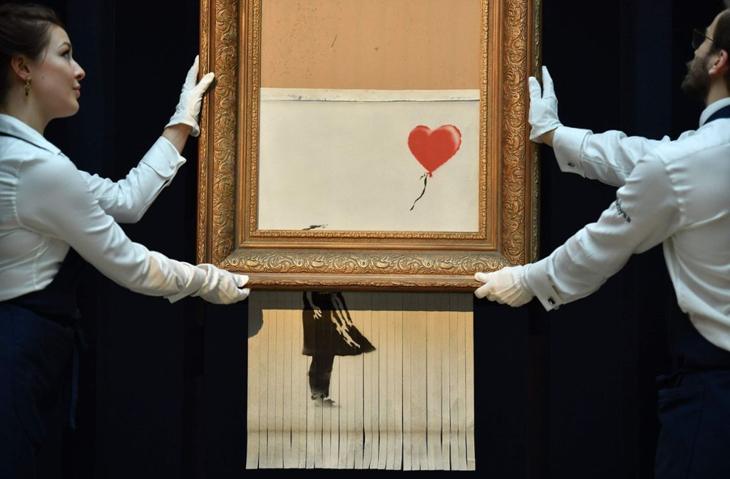 "Schon bald in der Stuttgarter Staatsgalerie: ""Girl With Balloon"" Foto: AFP"