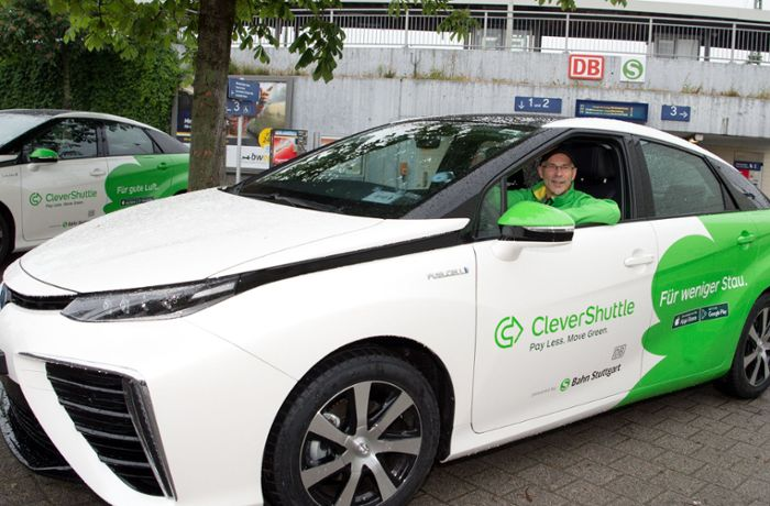Clever Shuttle in Stuttgart: Neues Sammeltaxi am Start