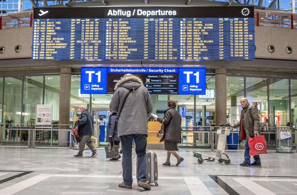 Umbau am Flughafen Stuttgart: Fluggäste müssen auf andere Terminals  ausweichen - Stuttgart - Stuttgarter Nachrichten