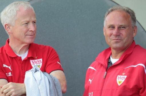Die ehemaligen Jugendleiter des VfB: Frieder Schrof (links) und Thomas Albeck. Foto: Pressefoto Baumann